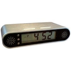 Camara espia 60 FPS Full HD con vision noctura en reloj despertador
